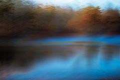 The Fishing Hole no.3 (DavidSenaPhoto) Tags: fujinon35mmf14 multipleexposure icm intentionalcameramovement impressionisticphotography water fuji pond xt2 lake waves fujifilm impressionism