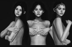 [Influence]Artistic nude poses (✿Yoυpι✿) Tags: poses bento secondlife second life bw slavi