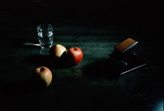 Still Life - Film Hasselblad (Photo Alan back Feb 12) Tags: vancouver canada stilllife hasselblad hasselbladxpan kodak5219 remjet blix arista ecnii film filmcamera filmscan polaroid polaroidsx70