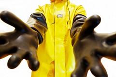 Welcome (essex_mud_explorer) Tags: rubber gloves gauntlets rubbergloves rubbergauntlets marigoldemperor marigold me107 hellyhansen nusfjord rainwear raincoat rainjacket waterproof pvc