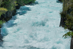 Down Huka Falls (fate atc) Tags: 200000literspersec hukafalls laketaupooutflow nz newzealand northisland taupo waikato waikatoriver water rapid waterfall