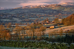 Teesdale (tonguedevil) Tags: landscape view outdoor outside countryside nature winter hills trees fields farmhouse farm sky cloud morning sunrise teesdale colour light shadows sunlight