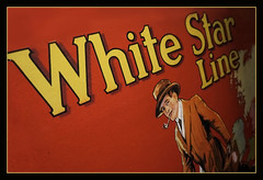 Belfast NIR - Titanic Belfast White Star Line advertisement 02 (Daniel Mennerich) Tags: belfast titanicbelfast northernireland flax linnen factory canon dslr eos hdr hdri spiegelreflexkamera slr vereinigteskönigreich unitedkingdom uk royaumeuni reinounido