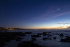 Asilomar State Beach, Pacific Grove, California (rocinante11) Tags: pacificgrove california asilomarstatebeach dusk blue bluehour water sky rocks longexposure