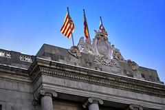 Catalunya (Alfredo Rafael) Tags: barcelona spain flags buildings explore