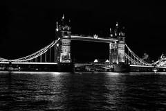 Tower Bridge at Night (chabsh) Tags: london tower bridge bw fuji xpro2 captureone silverefexpro2