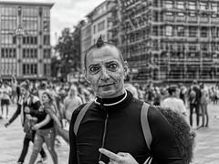 I SEE YOU (NorbertPeter) Tags: man street people spontaneous portrait panasonic lumix g9 cologne köln germany outdoor city urban eyes streetphotography streetportrait monochrome blackandwhite bw csd christopherstreetday pride parade