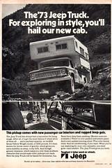 1973 Jeep Camper Pick-Up Truck American Motors USA Original Magazine Advertisement (Darren Marlow) Tags: 1 3 7 9 19 73 1973 j jeep c camper p pick u up t truck a american m motors amc car cool collectiblecollectors classic automobile v vehicle us usa united s states america 70s