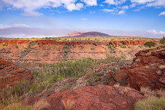 Smoke on the Horizon (christorrington) Tags: smoke sky clouds horizine karijini dalesgorge rock orange landscape westernaustralia bush fire