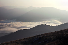 (Malykhanov) Tags: trip travel tiltshift crimea clouds cloud color mountains mist mountain nature light landscape fog