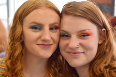 Red and rainbow (radargeek) Tags: pride okcpride okc oklahomacity parade portrait facepaint eyeshadow redhair 2019 june