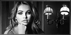 (horlo) Tags: wallpaper fonddécran glamour bw nb blackandwhite noiretblanc monochrome woman femme portrait thylaneblondeau collage