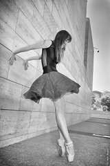 Ballerina (neil_reyes) Tags: vitacura santiagometropolitanregion chile ballet black white urban city girl woman dance street