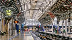 London, United Kingdom: Paddington commuter rail station (nabobswims) Tags: commuterrail england gb greatbritain hdr highdynamicrange ilce6000 lightroom london mirrorless nabob nabobswims paddington photomatix sel18105g sonya6000 station unitedkingdom