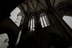 Une ambiance surnaturelle (Un jour en France) Tags: canoneos6dmarkii canonef1635mmf28liiusm sepia noiretblanc noiretblancfrance église far bretagne finistère strange