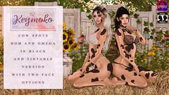 [Keymoko - Cow Spots] (Mykie Kiyoko) Tags: secondlife sl 2ndlife keymoko cowspots bakedonmesh omega