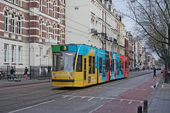 Weteringschans - Amsterdam (Netherlands) (Meteorry) Tags: europe nederland netherlands holland paysbas noordholland amsterdam center centre centrum weteringschans barleauscollege gvb07 siemens combino 13g treatwell commerciallivery colors street rue tram streetcar tramway public transport publique transportencommun transit gvb gvb2089 december 2019 meteorry