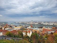 Budapest Parliament, Hungary (Cécile Fanthou) Tags: building city sky town mountain roof water house architecture landscape outdoors church tower cityscape cloud metropolis skyline hill cathedral castle suburb street road urbanarea outdoor noperson train nature travel metropolitanarea