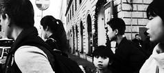 One direction. (Baz 120) Tags: candid candidstreet candidportrait city contrast street streetphoto streetcandid streetportrait strangers rome roma ricohgrii europe women monochrome monotone mono noiretblanc bw blackandwhite urban life portrait people provoke italy italia grittystreetphotography faces decisivemoment
