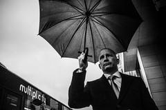 rainman (Rigpa22) Tags: street streetphotography sw strasse schwarz stadt bw black city regen rain umbrella regenschirm