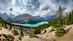 Peyto Lake with Caldron Peak