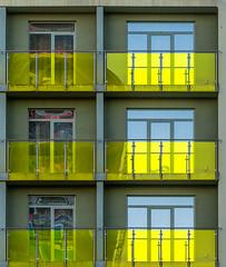 3 + 3 (jefvandenhoute) Tags: belgium belgië antwerpen light shapes geometric wall windows