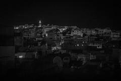 Tangier Nights (Klas-Herman Lundgren) Tags: africa marrocko morocco photography travel tangier tanger night bw city town houses hill blackandwhite tangertžtouan