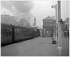Kensington Olympia 1958 (pjs,0968) (geoff7918) Tags: kensingtonolympia signalbox gwr guard steam miserable