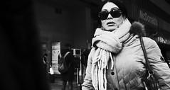 Shared moment. (Baz 120) Tags: candid candidstreet candidportrait city contrast street streetphoto streetcandid streetportrait strangers rome roma ricohgrii europe women monochrome monotone mono noiretblanc bw blackandwhite urban life portrait people provoke italy italia grittystreetphotography faces decisivemoment