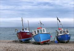 Barbara Jean and Friends (jo92photos) Tags: boats fishingboats barbarajean onshore beached devon shingle beer coast shore beach