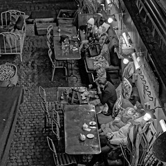 Alfresco January (Croydon Clicker) Tags: alfresco outdoors dining january tables chairs cot people restaurant boroughmarket londonbridge london nikon tamron