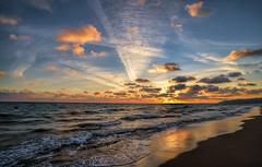 Barcelona Evening (StarCitizen) Tags: barcelona spain sea waves sunset sky sun clouds bestcapturesaoi elitegalleryaoi aoi