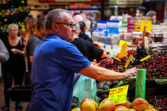 Concentration required (Chris (a.k.a. MoiVous)) Tags: streetphotography adelaidecentralmarket adelaidecbd streetlife