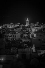 Tangier Night (Klas-Herman Lundgren) Tags: africa marrocko morocco photography travel tangier tanger night bw city town houses hill blackandwhite alley street midnight streets tangertžtouan