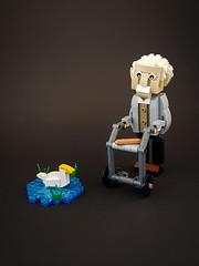 Lonely Old Man MOC (betweenbrickwalls) Tags: lego old afol moc legobuild legoart art legophotography toys