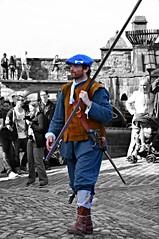 Ready for battle (Valantis Antoniades) Tags: edinburgh castle scotland uk architecture warrior people selective colour color