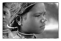 Odisha : Dharua girl - 1 (foto_morgana) Tags: adivasi adolescent analogphotography analogefotografie photographieanalogue asia asie azië asiangirl blackwhitephotography canoneos1 dharua earrings face gezicht visage filmnoir girl head headshot india indigenousculture jewellery joaillerie sieraad kodakt400cn koraput lookingaway monochrome nikoncoolscan nosejewel jewelry noseplug odisha on1photoraw2020 portrait portret portraiture topazdenoiseai travelexperience vuescan zwartwitfotografie