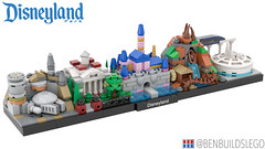 Lego Disneyland skyline [3] (BenBuildsLego) Tags: lego disneyland disney legos afol mountain castle space run millennium fantasy edge micro falcon instructions splash monorail smugglers moc microscale galaxys benbuildslego park toy toys haunted theme mansion