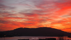 Detrás de Montefaro. (lumog37) Tags: puestadesol sunset anochecer costadegalicia coastline