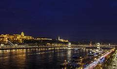 Budapest (the-father) Tags: budapest hungaria ungarn danube donau night river lights chain bridge kettenbrücke palais church buda