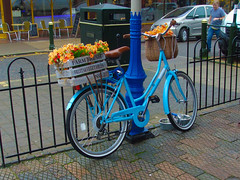 Blue Bike (mickyman13) Tags: canon canonixus150 ixus ixus150 belgravia vikingbelgraviabicycle viking belgraviabicycle vikingcycle fruitveg sunnyhunstantion hunstanton sunnyhunny norfolk cycle