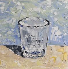 The Shot Glass (lwdphoto) Tags: lance duffin lancewadeduffin lanceduffin oil oilpaint painting art abstract expressionistic allaprima stilllife shotglass bar drinking whiskey palleteknife