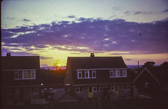 "Whitchurch sunset circa 1965 (gasheadali) Tags: semidetached house 1965 evening bristol whitchurch ""wimpeyhomes"" sunset bs14"