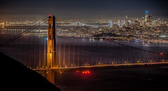 Night view (Valérie C) Tags: goldengate sanfrancisco bridge night skyline bay