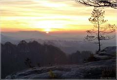 Morgen auf der Großen Gans (Christoph Bieberstein) Tags: deutschland germany sachsen saxony europa 2020 januar sonnenaufgang sunrise sächsische schweiz elbsandsteingebirge saxon switzerland