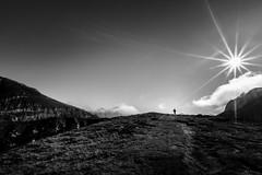 the escapist (iwona.kilichowska) Tags: nature landscape sun sunlight bw blackandwhite mountains sky silhouette light day outside scenery view wild naturephotography