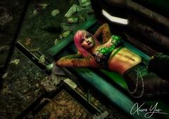 Down in the dumps in Drune (Xuxa Loves You) Tags: xuxa xuxayue xuxalovesyou lelutka lelutkaevolution lelutkaevolutionnova maitreya secondlife slavi slmodel slmodeling slpinup slsexy sladultmodel pinup tattoos tattooedchick tattooed pinkhair pinkhairdontcare bom bakedonmesh