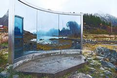 Reflecting Beyond D75_0753 (iloleo) Tags: art installation modern lofoten norway mirror hss nikon d750