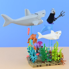LEGO Ocean Master🐠 (Alex THELEGOFAN) Tags: lego legography minifigures minifigure minifig minifigurine minifigs minifigurines dc comics super villain ocean master water coral crab algae sea seashell shark fish dolphin rock