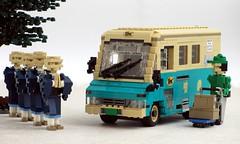 Yamato van (Mad physicist) Tags: japan yamato transport toyota qd200 quickdelivery 122 model lego ヤマト運輸株式会社 黒ねこ